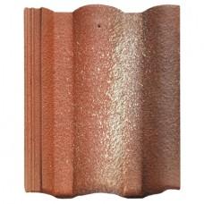 Цементно-песчаная черепица BRAAS Адрия красная