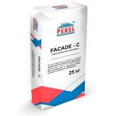 Серая цементная шпатлевка PEREL FACADE - C